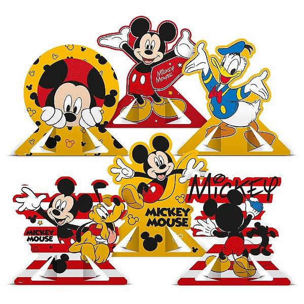 Decoração de Mesa Festa Mickey Mouse 06 Unidades Regina Rizzo Embalagens
