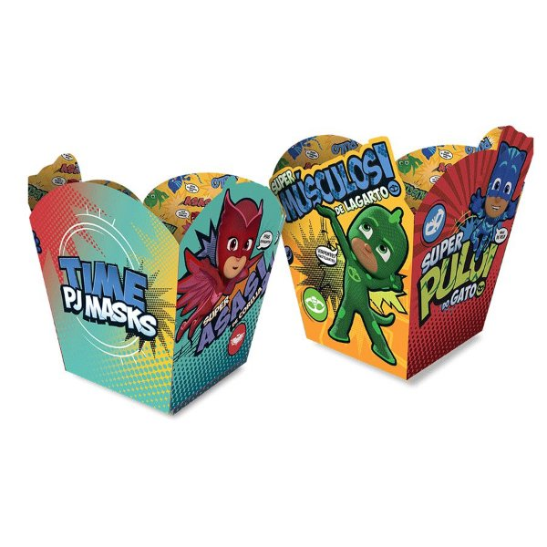 Cachepot Papel Festa PJ Masks 2 - 4 Unidades Regina Rizzo Embalagens