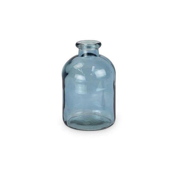 Garrafa Vidro Decorativa Azul Baixa 01 Unidade Cromus Rizzo Embalagens