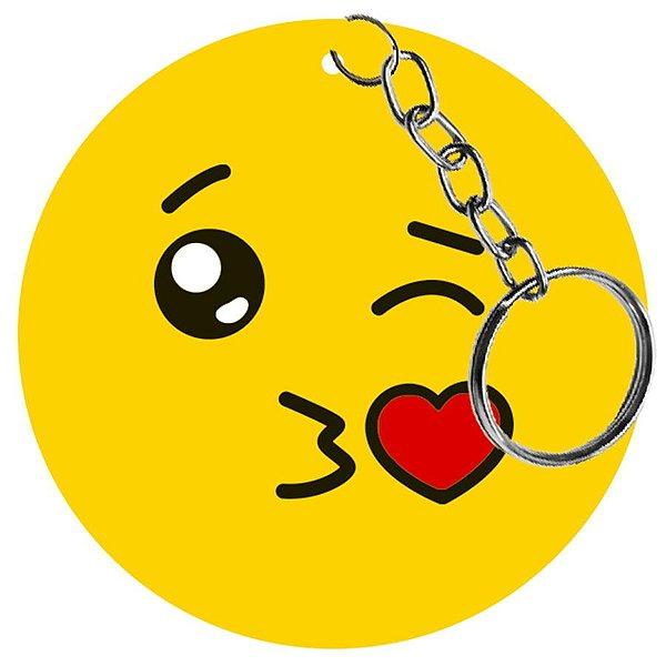 Chaveiro Lembrancinha - Emoji Mandando Beijo - 1 UN - LitoArte - Rizzo