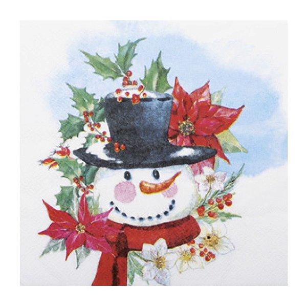 Guardanapo de Papel - Boneco de Neve - 32,5cm x 32,5cm - 20 unidades - Cromus Natal - Rizzo