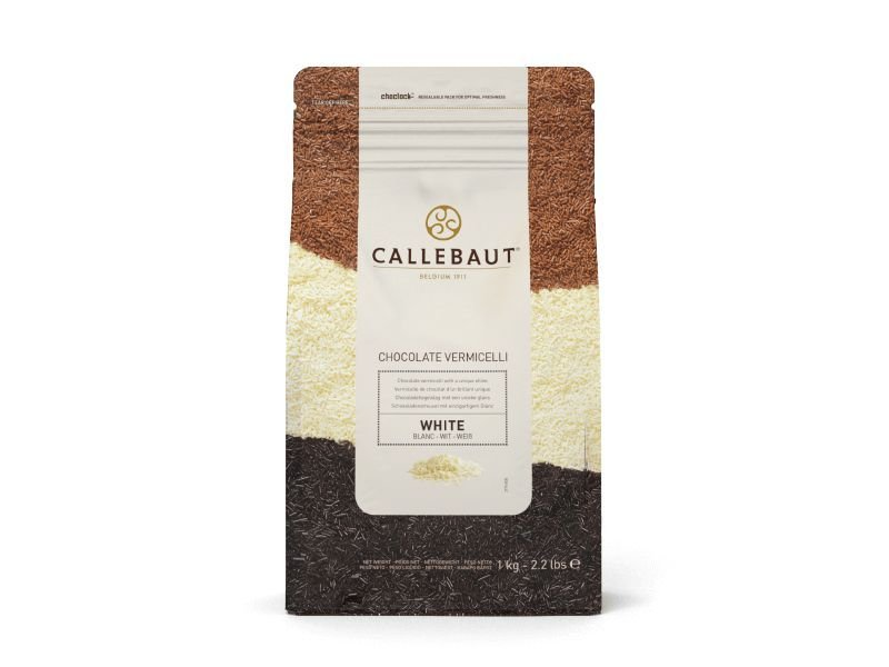 Chocolate Belga Callebaut - Granulado Branco - Vermicelli  - 1 kg - Rizzo