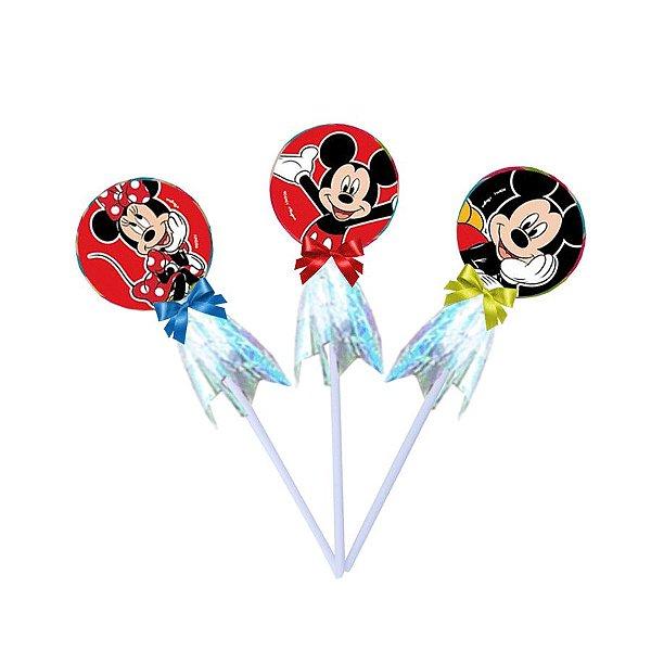 Pirulito Lembrancinha Festa Mickey Mouse 10 Unidades Regina Rizzo Embalagens