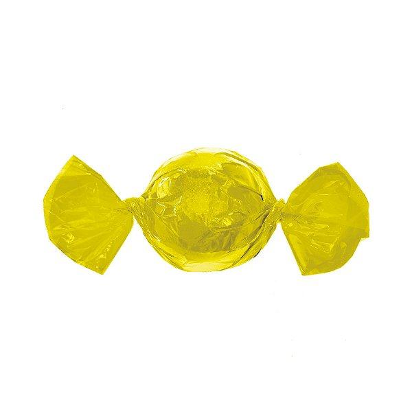 Papel Mini Trufa - 12x12,5cm - Amarelo - 100 unidades - Cromus - Rizzo Embalagens