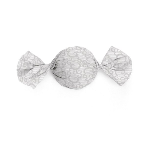 Papel Trufa 14,5x15,5cm - Renda Branca - 100 unidades - Cromus - Rizzo Embalagens