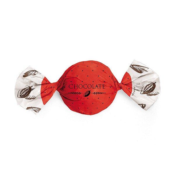 Papel Trufa 15x16cm - Cacau Vermelho - 100 unidades - Cromus - Rizzo Embalagens