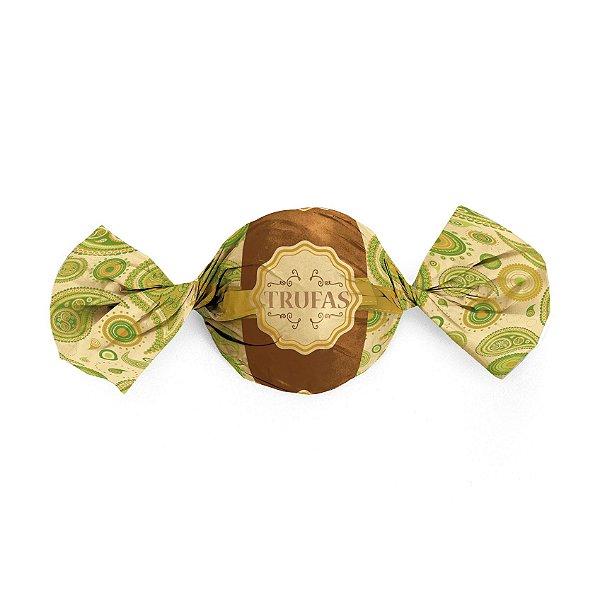 Papel Trufa 14,5x15,5cm - Dulce Verde - 100 unidades - Cromus - Rizzo Embalagens