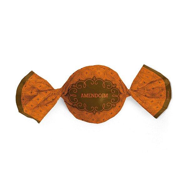 Papel Trufa 14,5x15,5cm - Gostosura Amendoim - 100 unidades - Cromus - Rizzo Embalagens