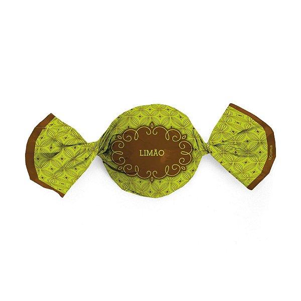 Papel Trufa 15x16cm - Gostosura Limao - 100 unidades - Cromus - Rizzo Embalagens