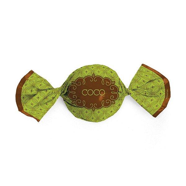 Papel Trufa 15x16cm - Gostosura Coco - 100 unidades - Gourmet - Cromus - Rizzo Embalagens
