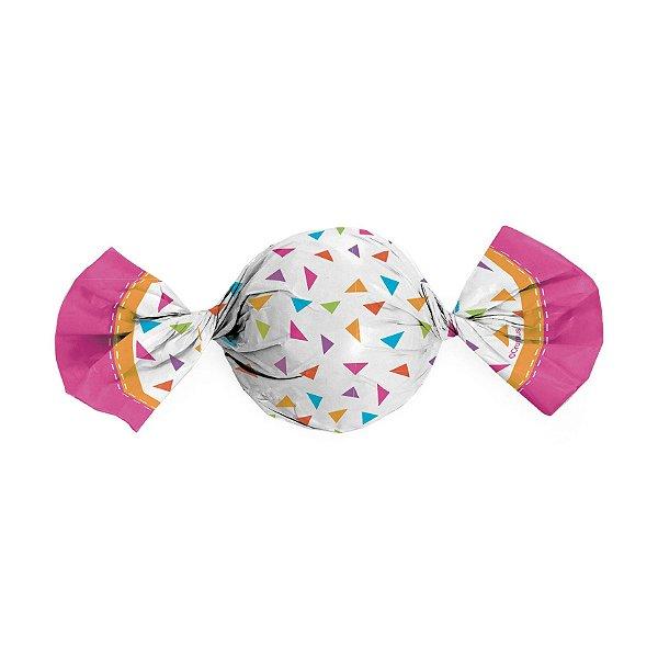 Papel Trufa 15x16cm - Festiva Rosa - 100 unidades - Cromus - Rizzo Embalagens