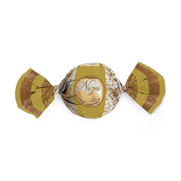 Papel Trufa Nozes 15x16cm - 100 unidades - Cromus - Rizzo Embalagens