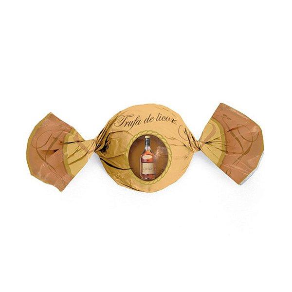 Papel trufa Licor 14,5x15,5cm - 100 unidades - Cromus - Rizzo Embalagens