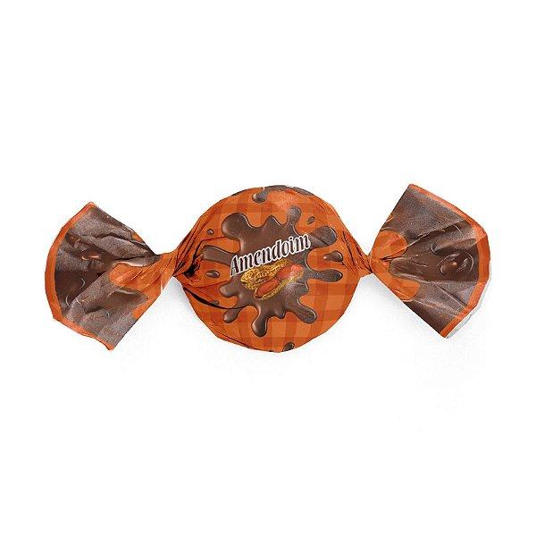 Papel Trufa 15x16cm - Frutal Amendoim - 100 unidades - Cromus - Rizzo Embalagens
