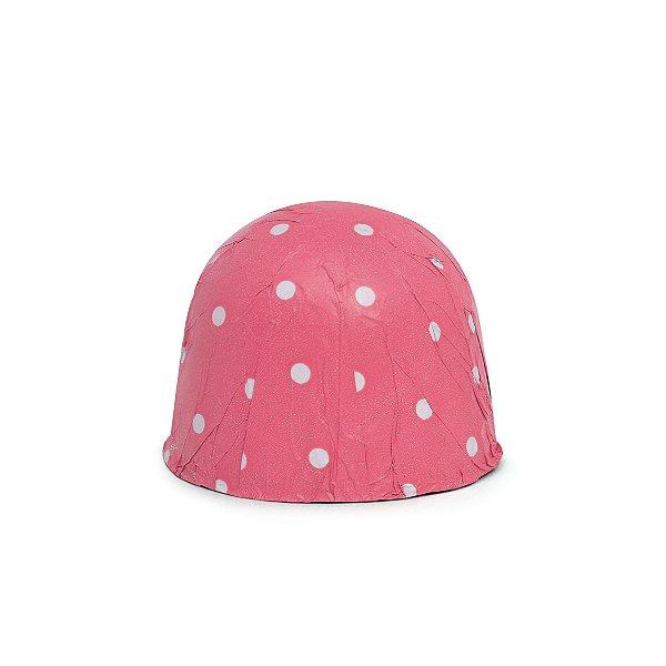 Papel Chumbo 10x9,8cm - Poá Pink - 300 folhas - Cromus - Rizzo Embalagens