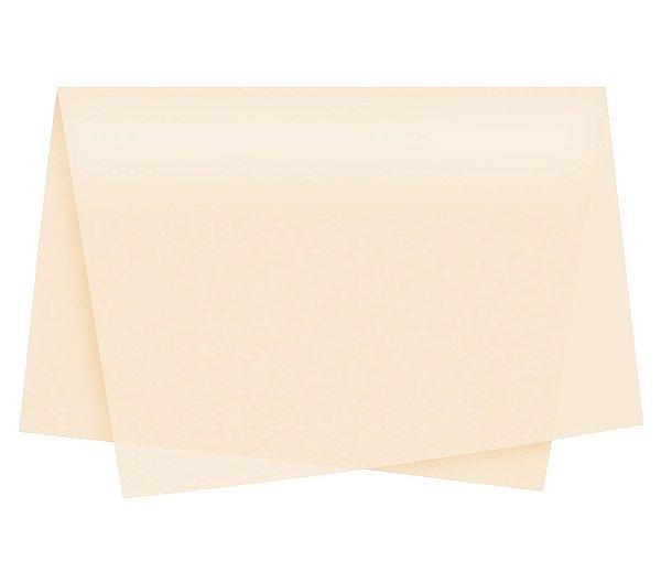 Papel de Seda - 49x69cm - Palha - 100 folhas - Cromus - Rizzo Embalagens