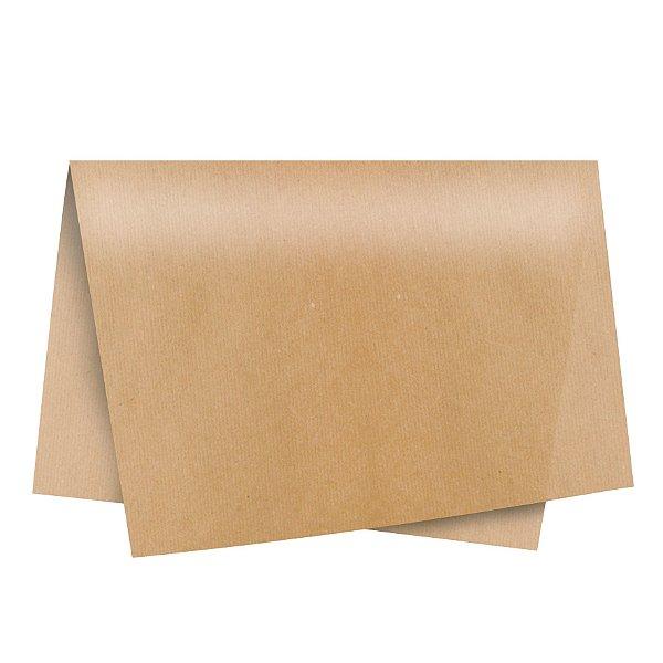 Papel de Seda - 49x69cm - Kraft - 100 folhas - Cromus - Rizzo Embalagens