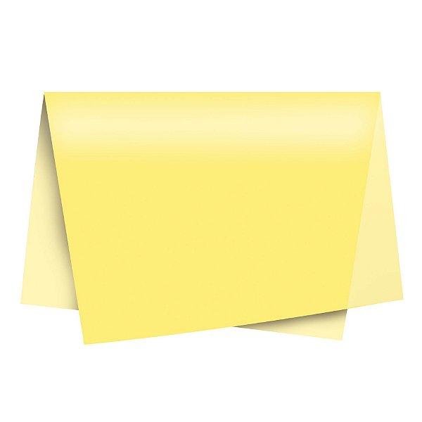 Papel de Seda - 49x69cm - Amarelo - 100 folhas - Cromus - Rizzo Embalagens