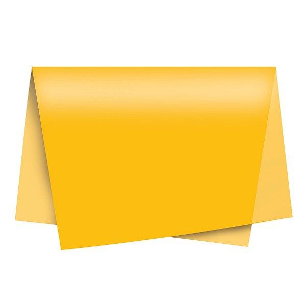 Papel de Seda - 49x69cm - Amarelo Gema - 100 folhas - Cromus - Rizzo Embalagens