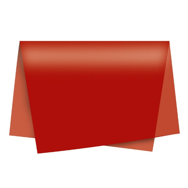 Papel de Seda - 49x69cm - Vermelho - 100 folhas - Cromus - Rizzo Embalagens