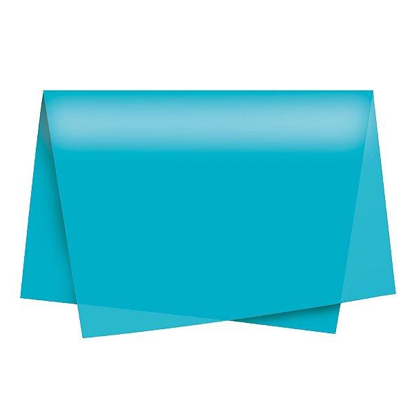 Papel de Seda - 49x69cm - Turquesa - 100 folhas - Cromus - Rizzo Embalagens