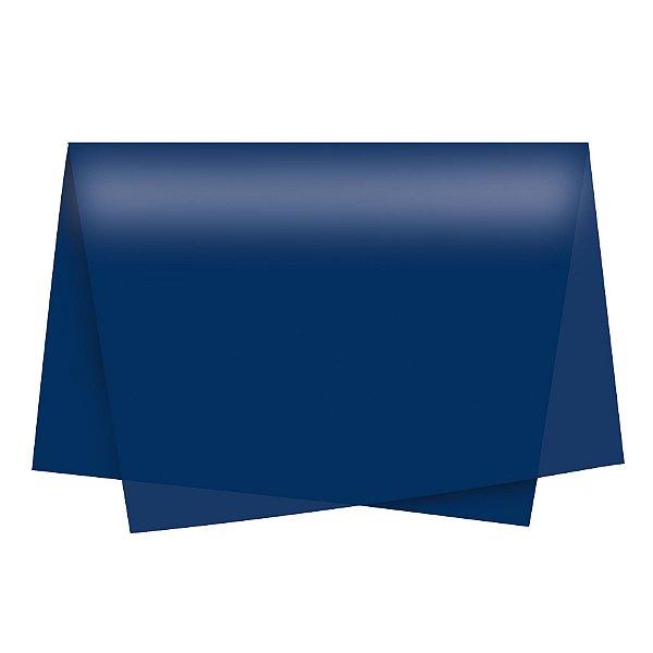 Papel de Seda - 49x69cm - Azul Marinho - 100 folhas - Cromus - Rizzo Embalagens