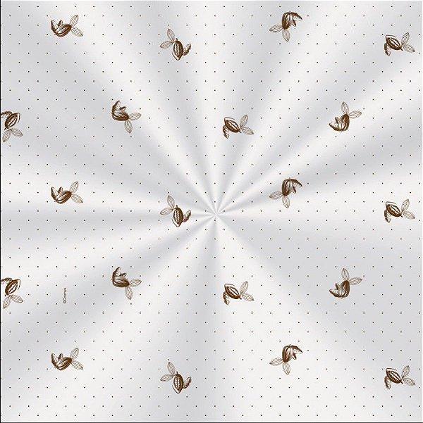 Saco Decorado Sabor Marrom - 11x19,5cm - 100 unidades - Cromus - Rizzo Embalagens