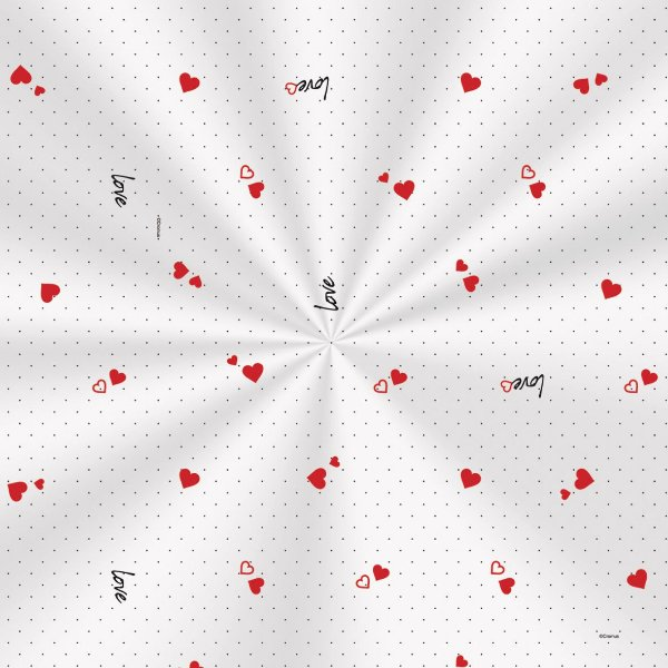 Saco Decorado Mini Love - 11x19,5cm - 100 unidades - Cromus - Rizzo Embalagens