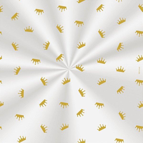 Saco Decorado Coroa Ouro - 15x22cm - 100 unidades - Cromus - Rizzo Embalagens