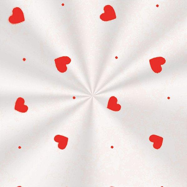 Saco Decorado Love Vermelho - 15x22cm - 100 unidades - Cromus - Rizzo Embalagens