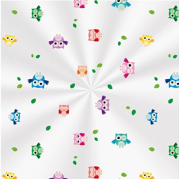 Saco Decorado Corujinhas - 15x29cm - 100 unidades - Cromus - Rizzo Embalagens