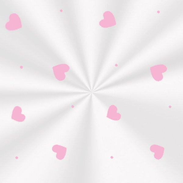 Saco Decorado Love Rosa - 15x29cm - 100 unidades - Cromus - Rizzo Embalagens