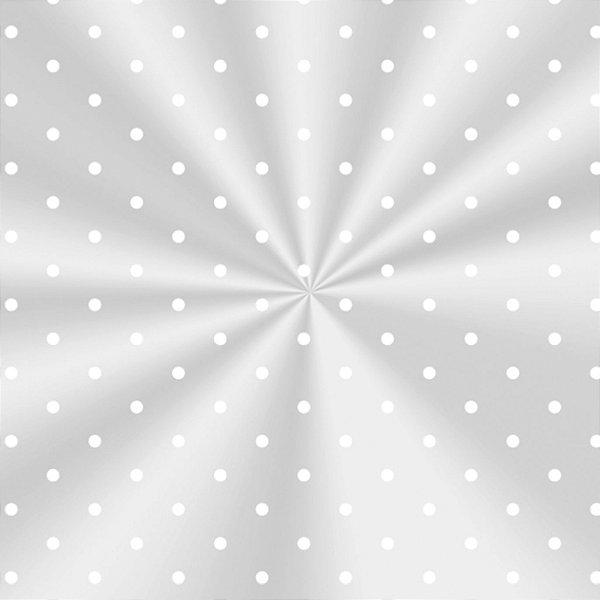 Saco Decorado Poá Branco - 15x29cm - 100 unidades - Cromus - Rizzo Embalagens