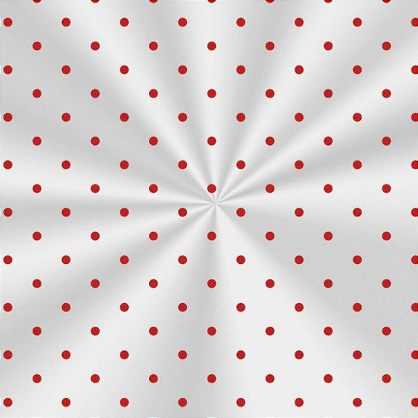 Saco Transparente Decorado Poá Vermelho - 15x29cm - 100 unidades - Cromus - Rizzo Embalagens