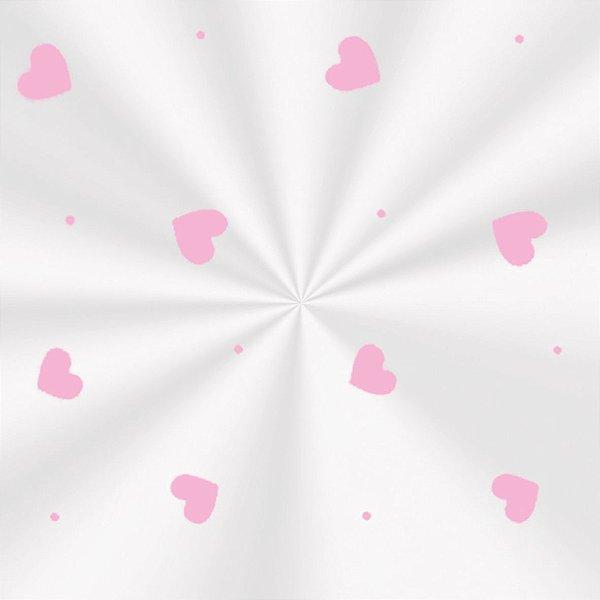 Saco Decorado Love Rosa - 20x29cm - 100 unidades - Cromus - Rizzo Embalagens