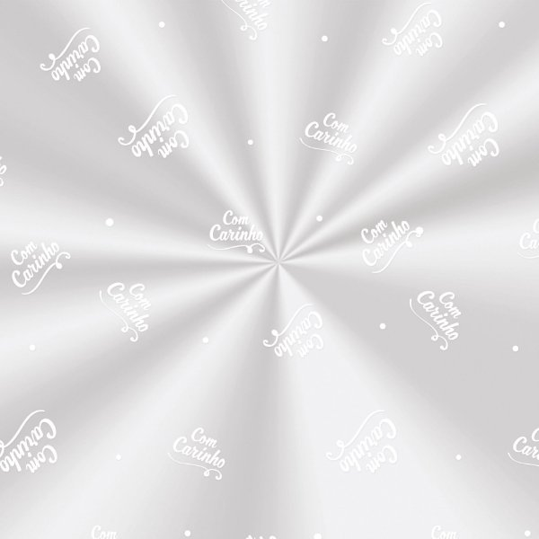 Saco Decorado Carinho Branco - 20x29cm - 100 unidades - Cromus - Rizzo Embalagens