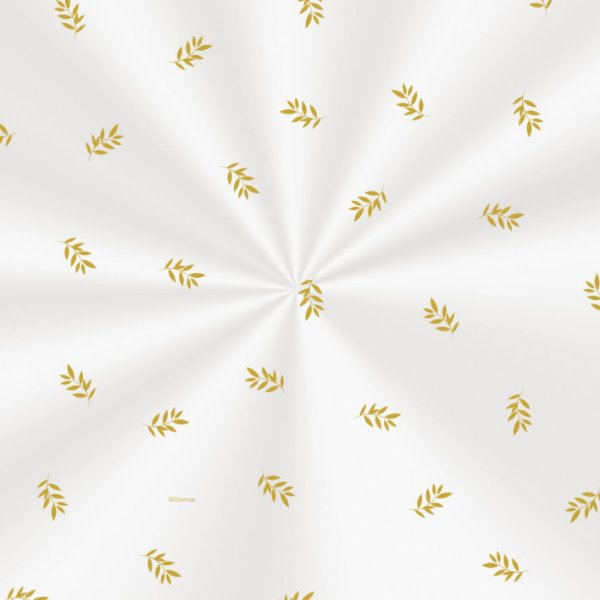 Saco Decorado Raminhos Ouro - 25x37cm - 100 unidades - Cromus - Rizzo Embalagens