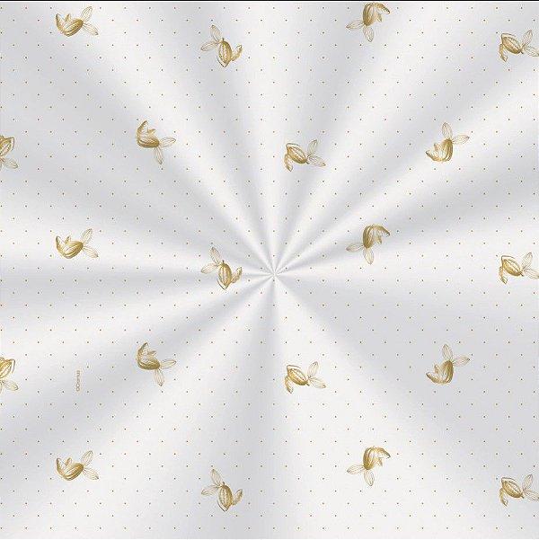 Saco Decorado Sabor Ouro - 30x44cm - 100 unidades - Cromus - Rizzo Embalagens