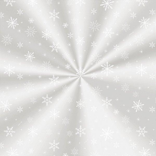 Saco Decorado Floco de Neve - 30x44cm - 100 unidades - Cromus - Rizzo Embalagens