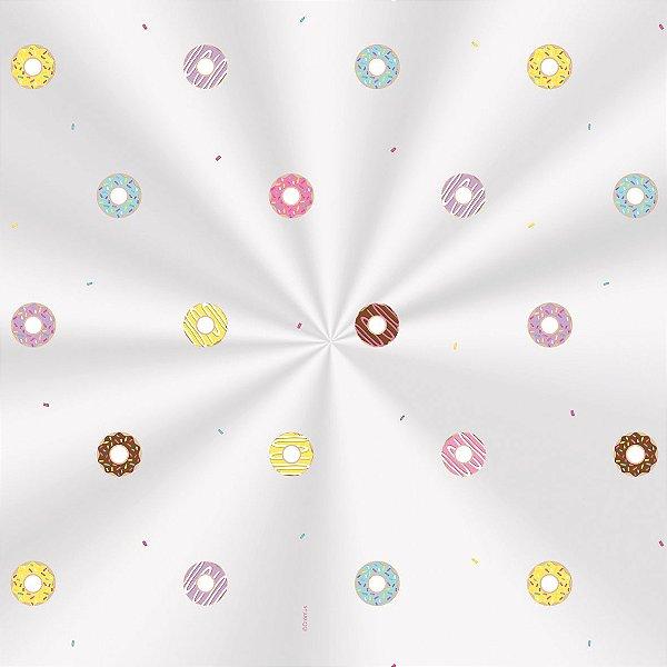 Saco Decorado Donuts - 30x44cm - 100 unidades - Cromus - Rizzo Embalagens