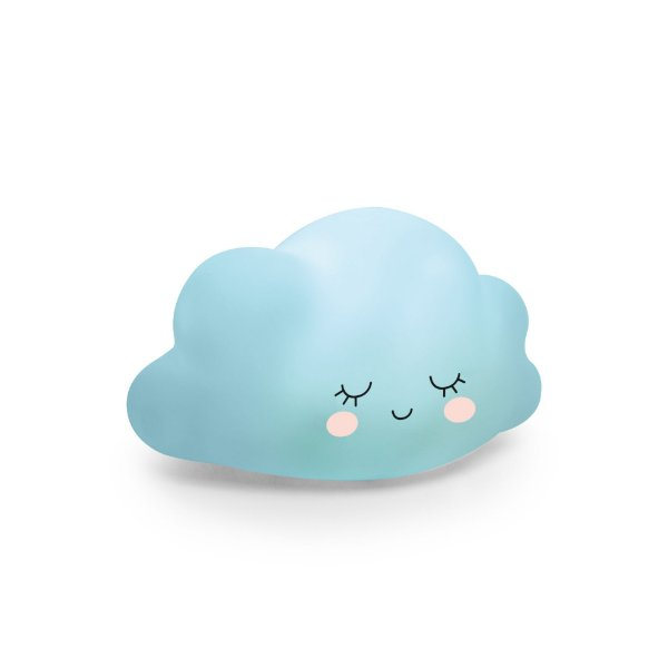 Mini Luminária Nuvem Azul Festa Pedacinho Do Céu - Cromus - Rizzo Festas