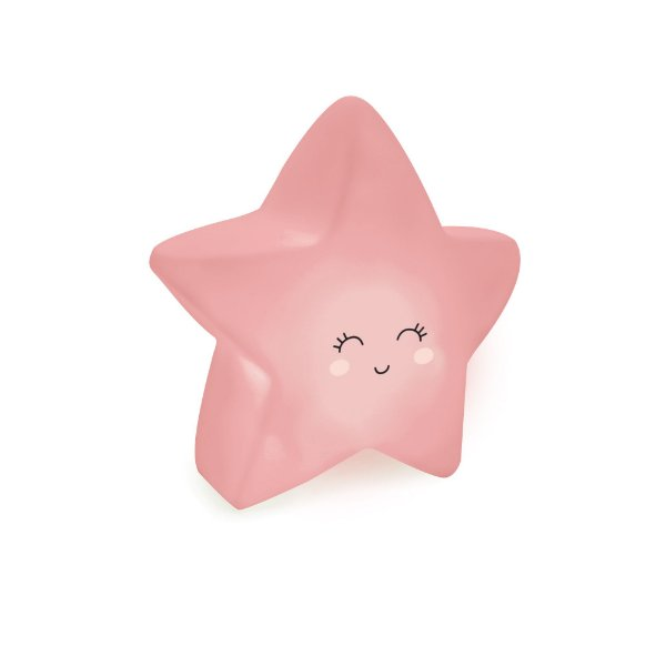 Mini Luminária Estrela Rosa Festa Pedacinho Do Céu - Cromus - Rizzo Festas
