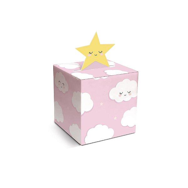 Caixa para Docinho Festa Pedacinho Do Céu Rosa 4,5X4,5X4cm - 10 unidades - Cromus - Rizzo Festas