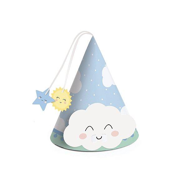Mini Chapéu Festa Pedacinho Do Céu Azul - 8 unidades - Rizzo Festas