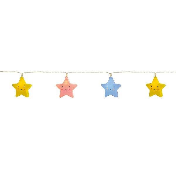 Varalzinho De Led Estrelas Coloridas Festa Pedacinho Do Céu - Cromus - Rizzo Festas