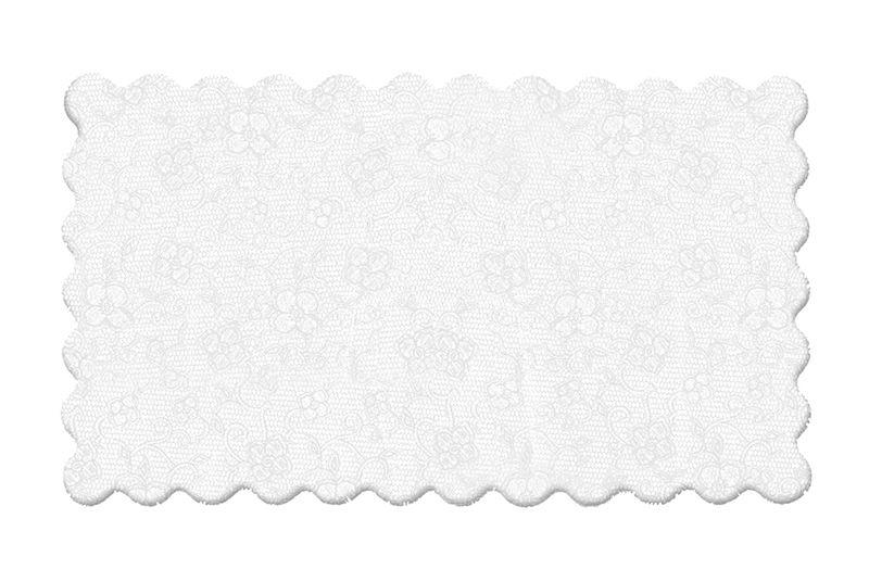 Fundo Rendado Retangular Branco 20x13cm - 100 unidades - Cromus - Rizzo Embalagens