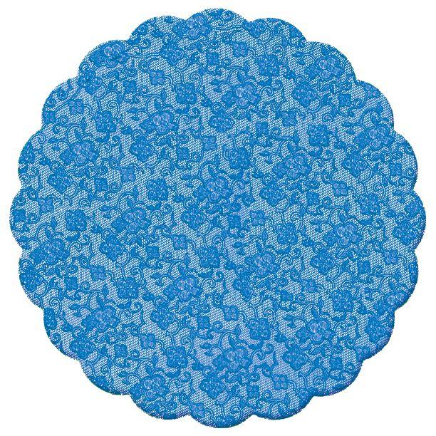 Fundo Rendado Redondo Azul Marinho 7cm - 100 unidades - Cromus - Rizzo Embalagens