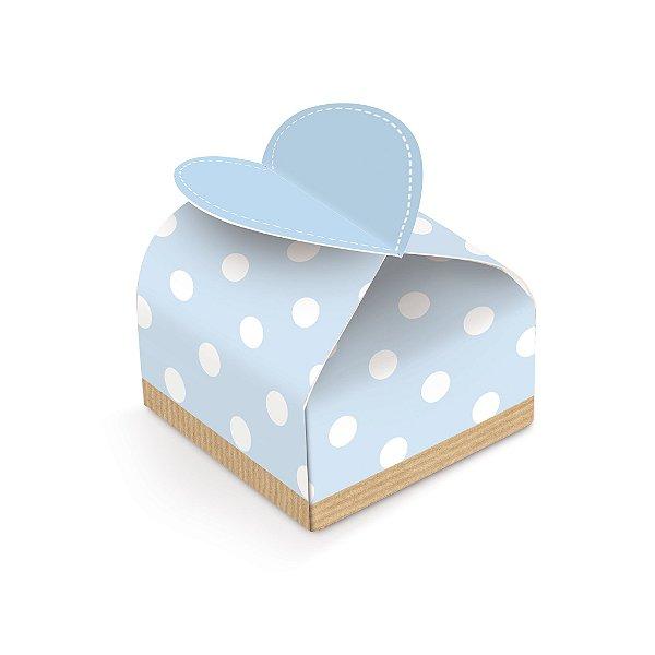 Caixa Bem Nascido Coração Festa Chá Revelação Azul 24 unidades - Cromus - Rizzo Festas