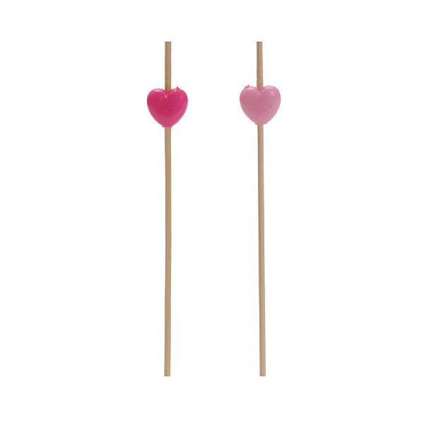 Pick Miçanga Coração Reinado da Princesa - 24 unidades - Cromus - Rizzo Festas