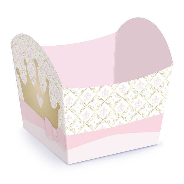 Mini Cachepot Festa Reinado da Princesa - 10 unidades - Cromus - Rizzo Festas